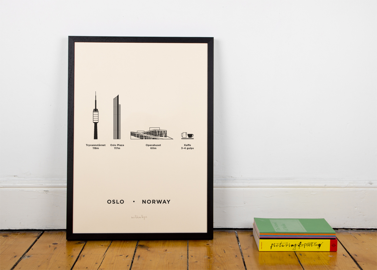 Oslo, Norway Screenprint Poster by me&him&you