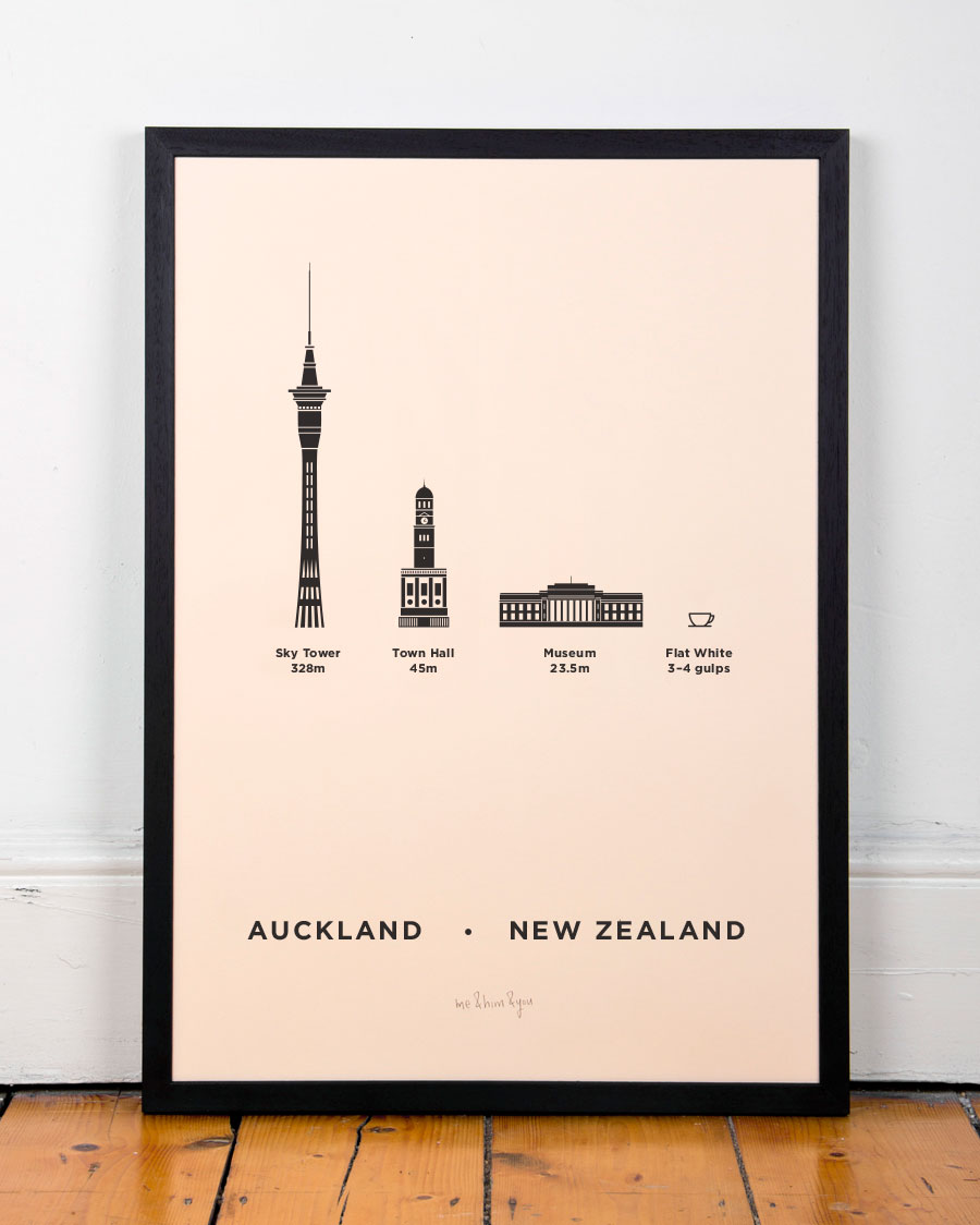Poster design dublin - Aukland New Zealand City Print Poster