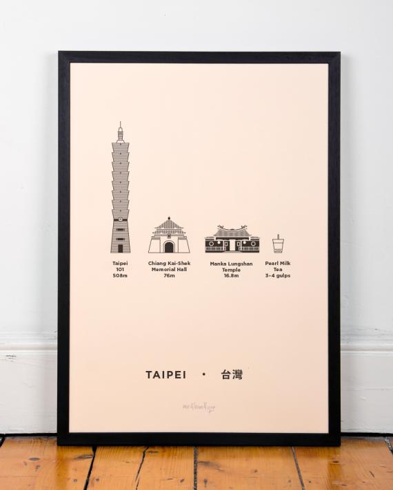 Taipei, Taiwan poster print