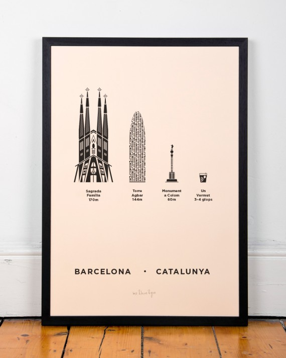 barcelona poster print