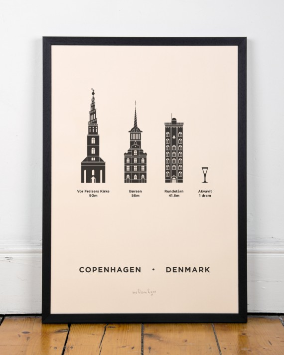 Copenhagen Screenprint poster