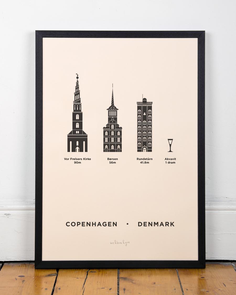 Copenhagen Screenprint Me Amp Him Amp You