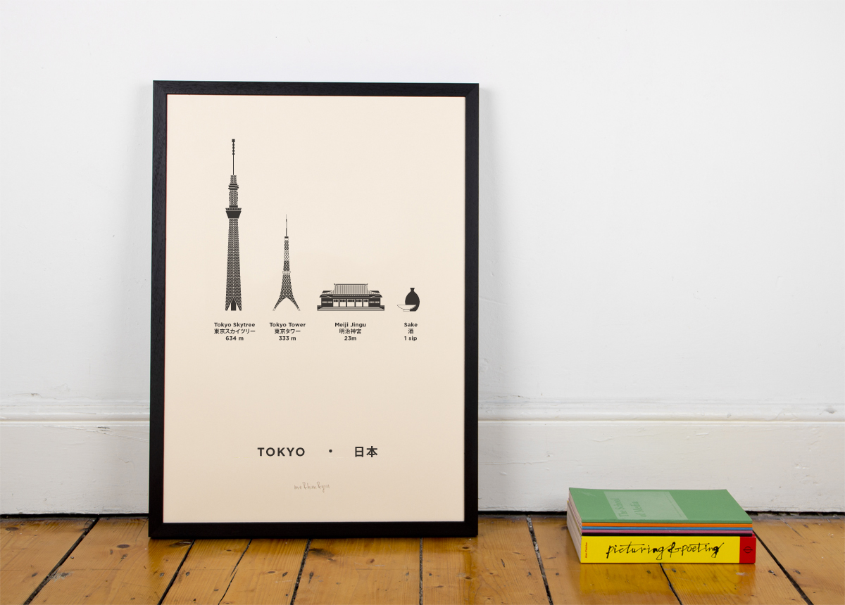 Tokyo Screenprint poster City
