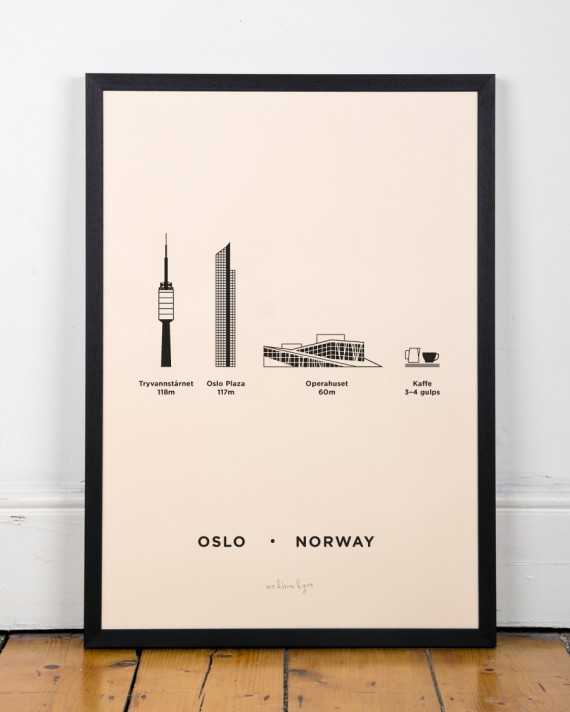 Oslo Screenprint Poster by me&him&you