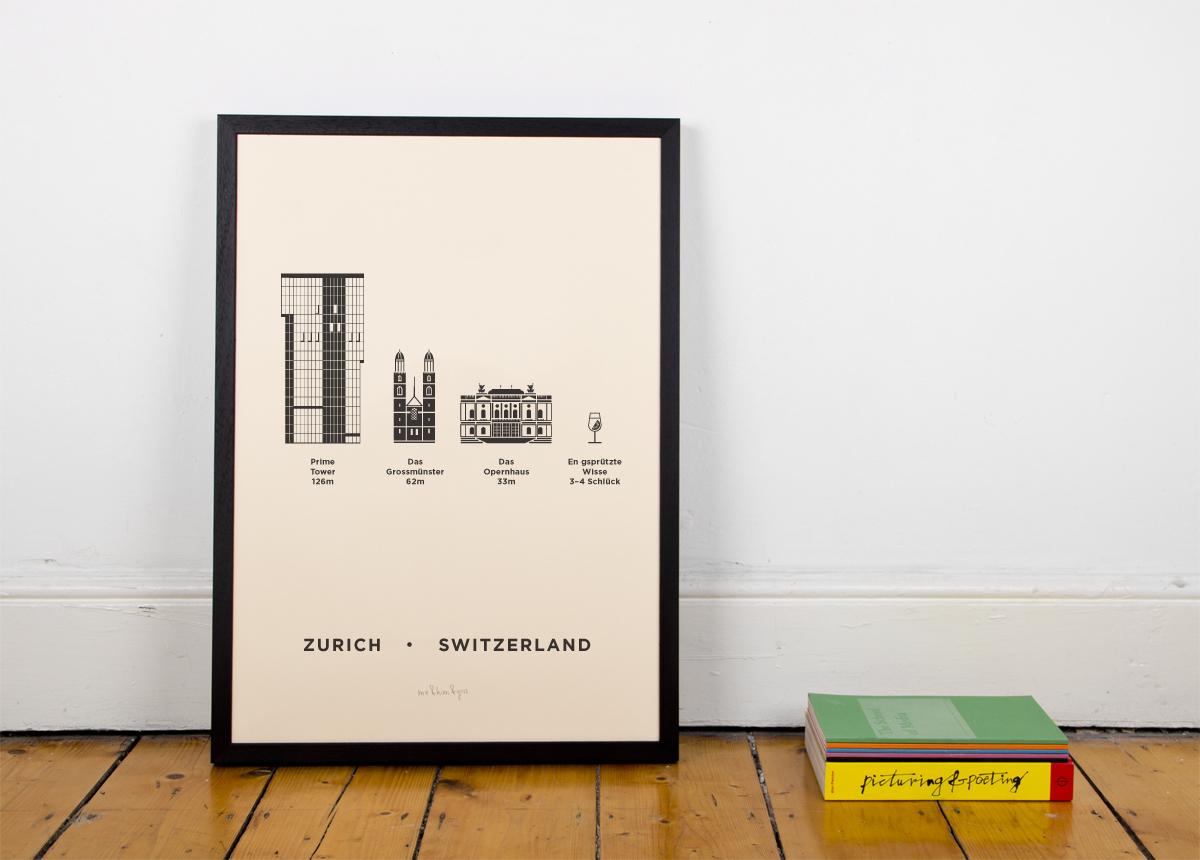 Zurich Screenprint Poster