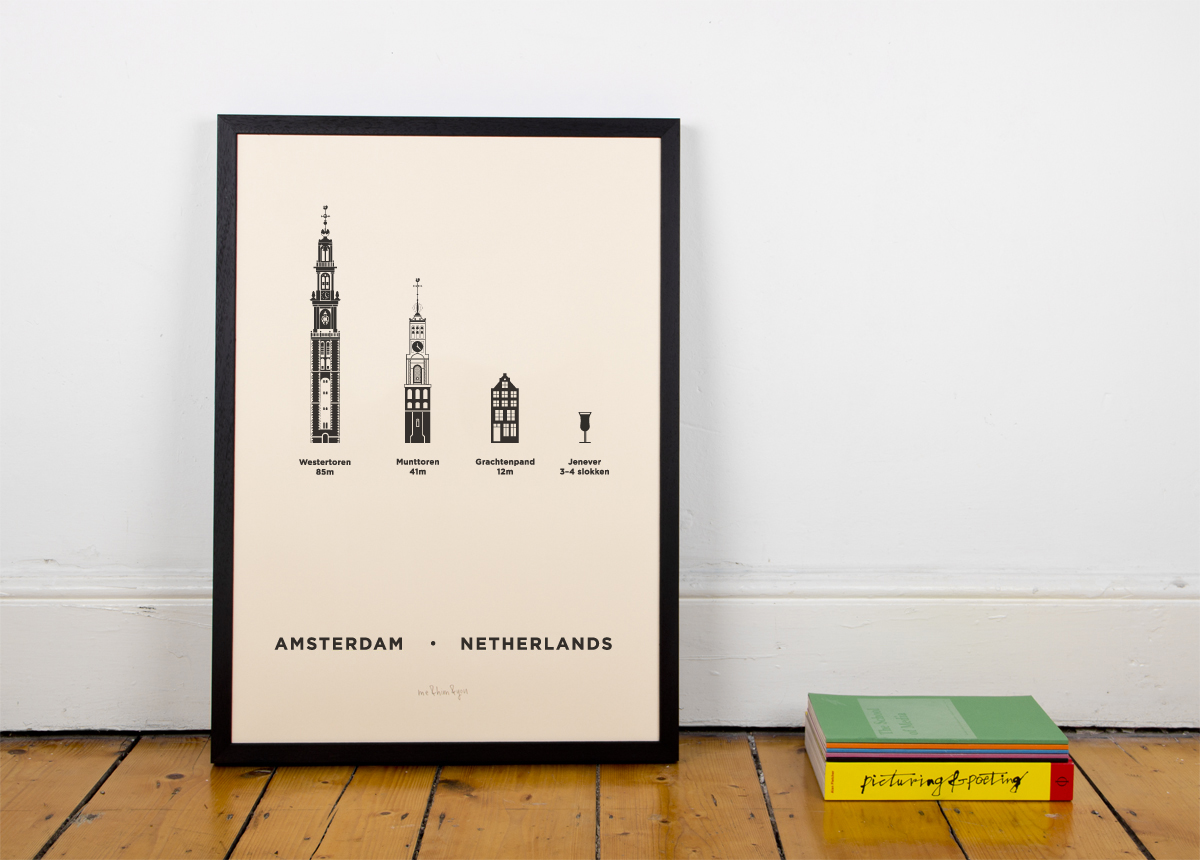Amsterdam Screen Print Poster City by me&him&you