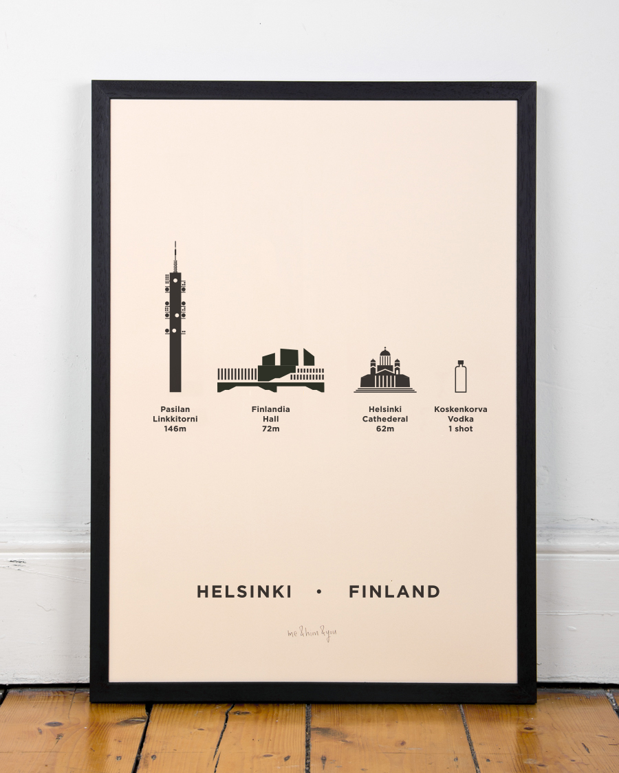 me&him&you – abstract art city architecture screen printed